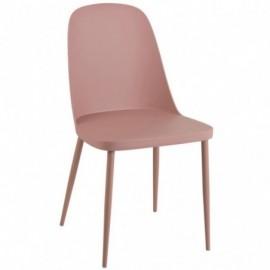 Chaise de table leo rose nude