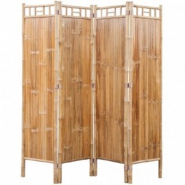 paravent à 4 panneaux Bambou
