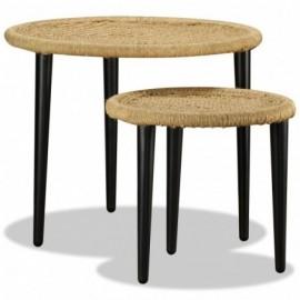 Lot 2 Tables basses Jute...