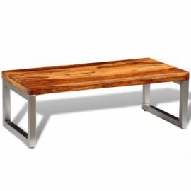 Table basse avec pieds bois...